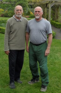 Ian Deavin with his teacher Karel Koskuba