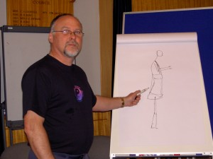 Ian illustrates posture