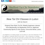 New Tai Chi Classes in Luton with Ian Deavin from Shefford Tai Chi