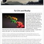 Tai Chi and Reality, 15th December 2014 Newsletter