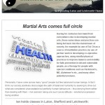 Martial arts comes full circle, 21st January 2015 Newsletter