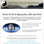 World Tai Chi Day 2015, 11th February 2015 newsletter