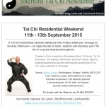 Tai Chi Residential Weekend, 3rd March 2015 Newsletter