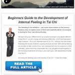 Beginners Guide to the Development of Internal Feeling in Tai Chi, 8th April 2015 Newsletter