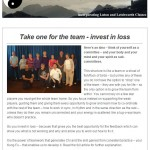 Take one for the team - invest in loss, 22nd April 2015 Newsletter
