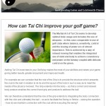 How can Tai Chi improve your golf game?, 27th May 2015 Newsletter