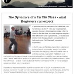 The Dynamics of a Tai Chi Class - what Beginners can expect, 10th June 2015 Newsletter