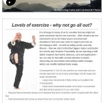 Levels of exercise - why not go all out, 24th June 2015 Newsletter