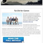 Tai Chi for Carers, 6th August 2015 Newsletter