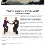 Physical Awareness and non-verbal communication, 20th August 2015 Newsletter