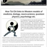 How Tai Chi links to Western models, 10th September 2015 Newsletter
