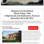 Re-Vitalise Weekend Tai Chi Retreat, 27th November 2015 Newsletter