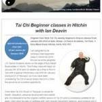 Tai Chi beginners classes in Hitchin with Ian Deavin, 22nd December 2015 Newsletter