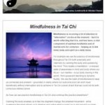 Mindfulness in Tai Chi, 17th December 2015 Newsletter