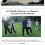 2016 Tai Chi Seminars and Events, 5th January 2016 Newsletter