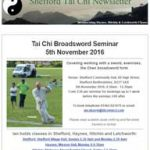 Tai Chi Broadsword Seminar in November, 4th October 2016 Newsletter
