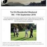 Tai Chi Residential Weekend 2106, 28th April 2016 Newsletter