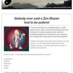 Nobody ever said a Zen Master had to be patient, 7th January 2016 Newsletter