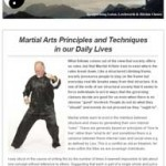 Martial Arts Principles and Techniques in our Daily Live, 22nd March 2016 Newsletter