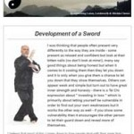 Development of a Sword, 5th April 2016 Newsletter