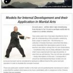 Models for Internal Development and their Application in Martial Arts, 20th April 2016 Newsletter