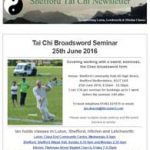Tai Chi Broadsword Seminar, 25th June 2016