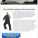 Chi and body mapping and muscle power, 12th May 2016 Newsletter