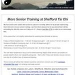 More Senior Training at Shefford Tai Chi, 9th May 2016 Newsletter