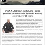 Half a Lifetime in Martial Arts, 9th June 2016 Newsletter
