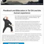 Feedback and Education in Tai Chi and the Human Experience, 26th July 2016 Newsletter