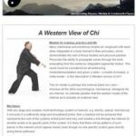 A Western View of Chi, 23rd August 2016 Newsletter
