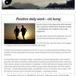 Positive Daily Work - Chi Kung, 20th September 2016 Newsletter