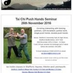 Push Hands Seminar on 26th November 2016
