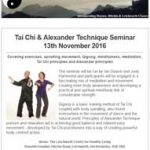Tai Chi & Alexander Technique Seminar on 13th November 2016