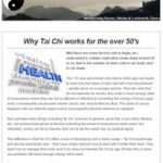 Why Tai Chi works for the over 50's, 15th November 2016 Newsletter