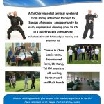 Tai Chi Residential Weekend, 15th - 17th September 2017