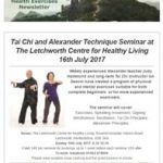 Tai Chi and Alexander Technique Seminar at The Letchworth Centre for Healthy Living, 16th July 2017