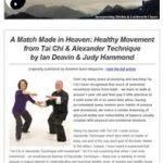 A match made in heaven: healthy movement from Tai Chi and Alexander Technique, 22nd February 2017 Newsletter