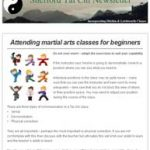 Attending martial classes for beginners, 7th March 2017 Newsletter
