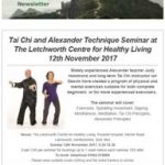Tai Chi and Alexander Technique Seminar at The Letchworth Centre for Healthy Living, 12th November 2017