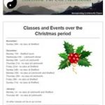 Classes and events over the Christmas period - 9th November Newsletter