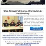 Chen Taijiquan's Integrated Curriculum - 3rd November Newsletter