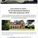 Tai Chi Residential Weekend, September 2018