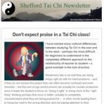 Don't expect praise in a Tai Chi class