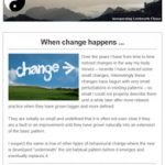 When Change Happens - November Newsletter