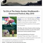 Tai Chi at The Swiss Garden Shuttleworth - March 2019 Newsletter