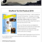 Shefford Tai Chi Festival 2019 - April 2019 Newsletter