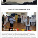 Shefford Tai Chi Festival 2019 Update - May 2019 Newsletter