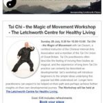 Tai Chi - the magic of movement workshop at the Letchworth Centre for Healthy Living