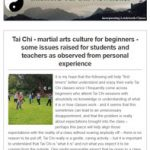 Shefford Tai Chi Newsletter, 11th November 2019 - Tai Chi - martial arts culture for beginners